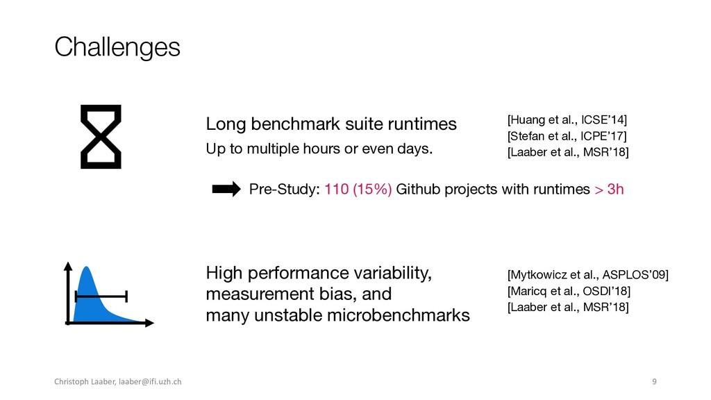 Challenges [Huang et al., ICSE'14] Long benchma...