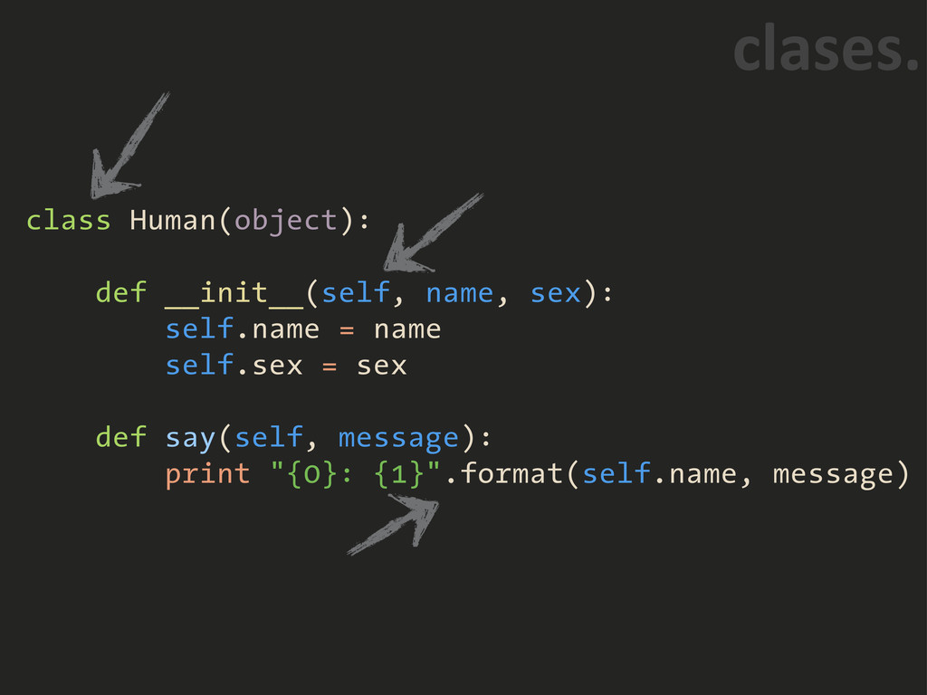 class Human(object): def __init__(self, name, s...