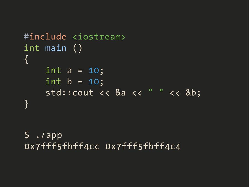 #include <iostream> int main () { int a = 10; i...