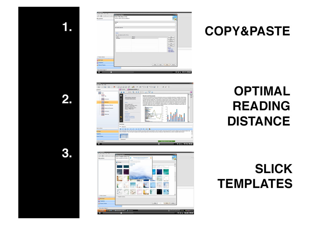 1.! 2.! 3.! COPY&PASTE! OPTIMAL READING DISTANC...