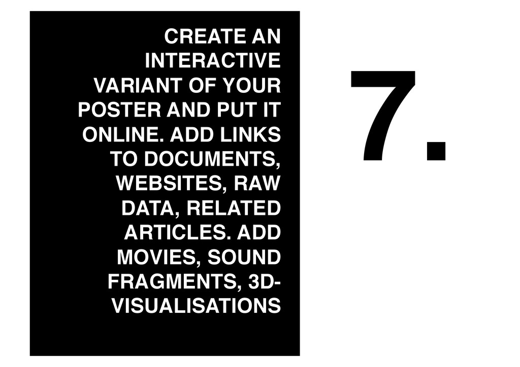 7.! CREATE AN INTERACTIVE VARIANT OF YOUR POSTE...