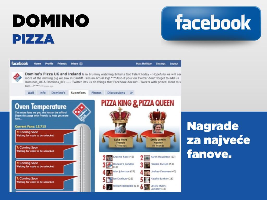 DOMINO PIZZA Nagrade za najveće fanove.