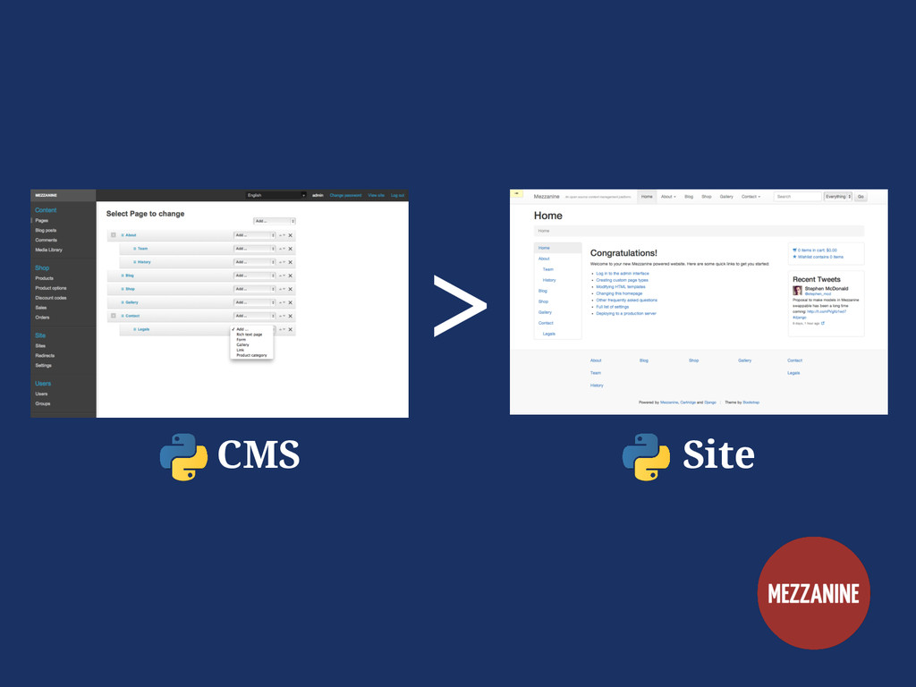 > CMS Site