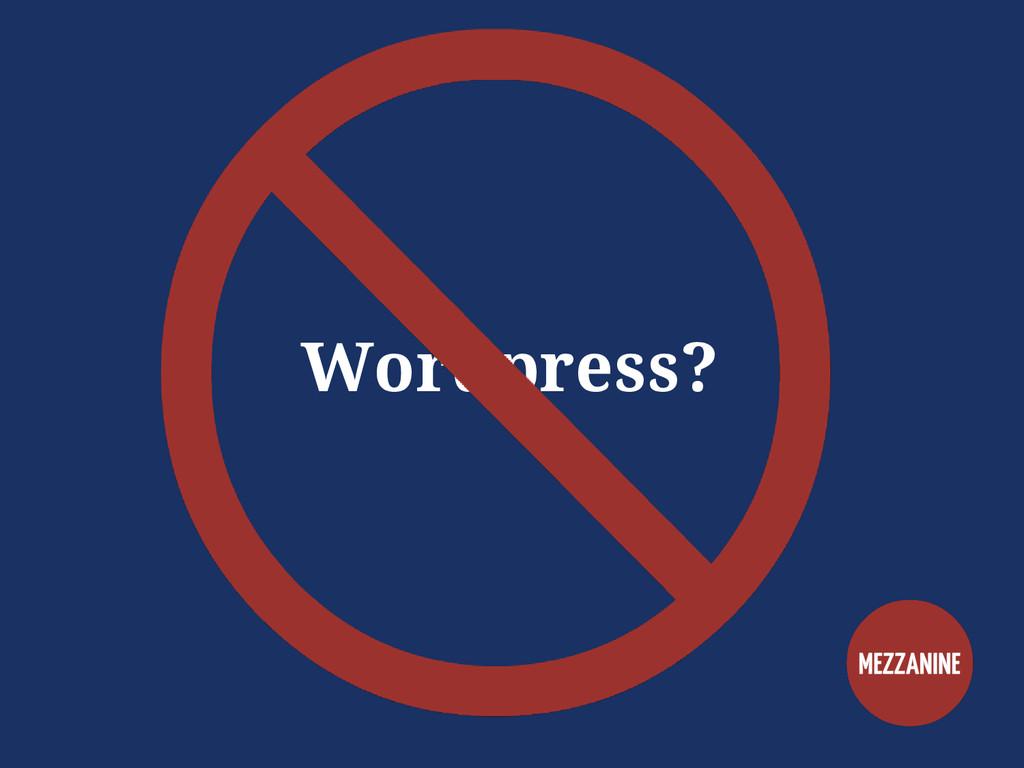 Wordpress?