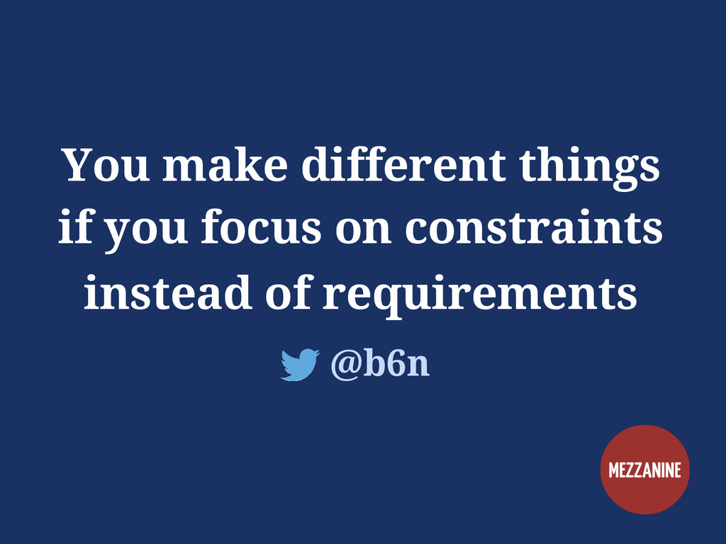 You make different things if you focus on const...