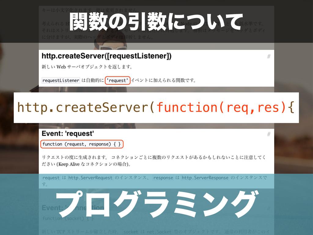 http.createServer(function(req,res){ ؔͷҾʹ͍ͭͯ ...