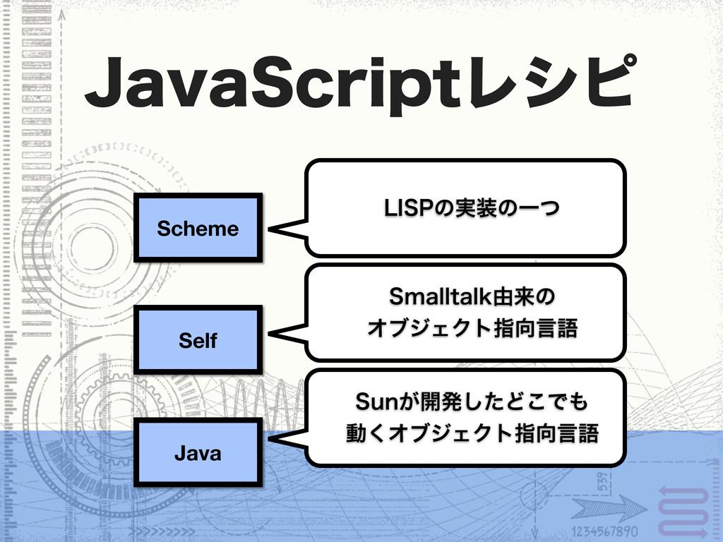 Scheme Self Java +BWB4DSJQUϨγϐ 4NBMMUBML༝དྷͷ Φϒδ...