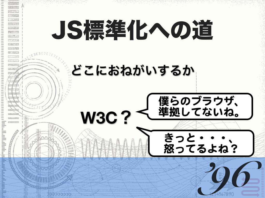+4ඪ४Խͷಓ W3Cʁ Ͳ͜ʹ͓Ͷ͕͍͢Δ͔ '96 ͖ͬͱɾɾɾɺ ౖͬͯΔΑͶʁ Β...