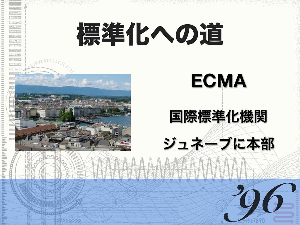 ඪ४Խͷಓ δϡωʔϒʹຊ෦ ECMA '96 ࠃࡍඪ४Խػؔ