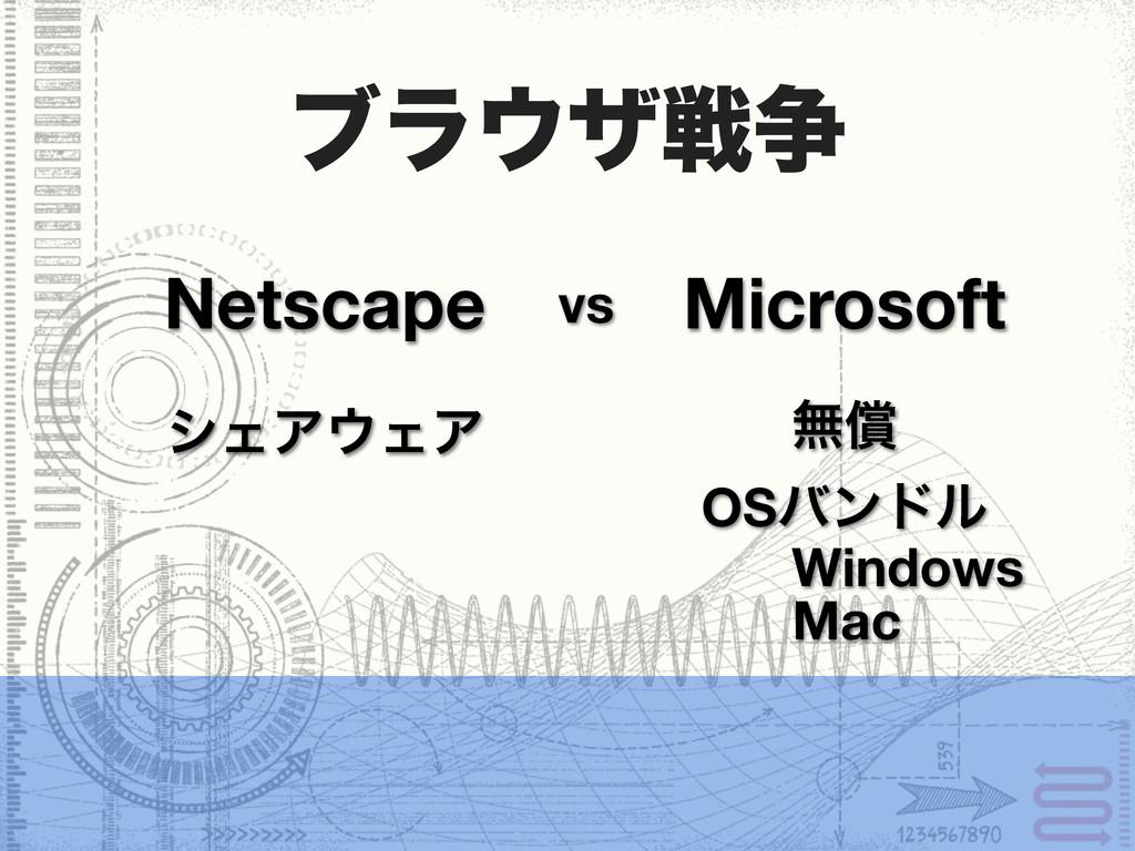 ϒϥβઓ૪ Netscape Microsoft vs γΣΞΣΞ ແঈ OSόϯυϧ W...