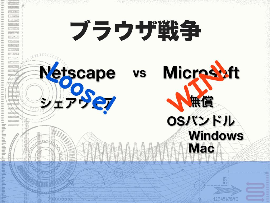 ϒϥβઓ૪ Netscape Microsoft vs OSόϯυϧ Windows Mac...