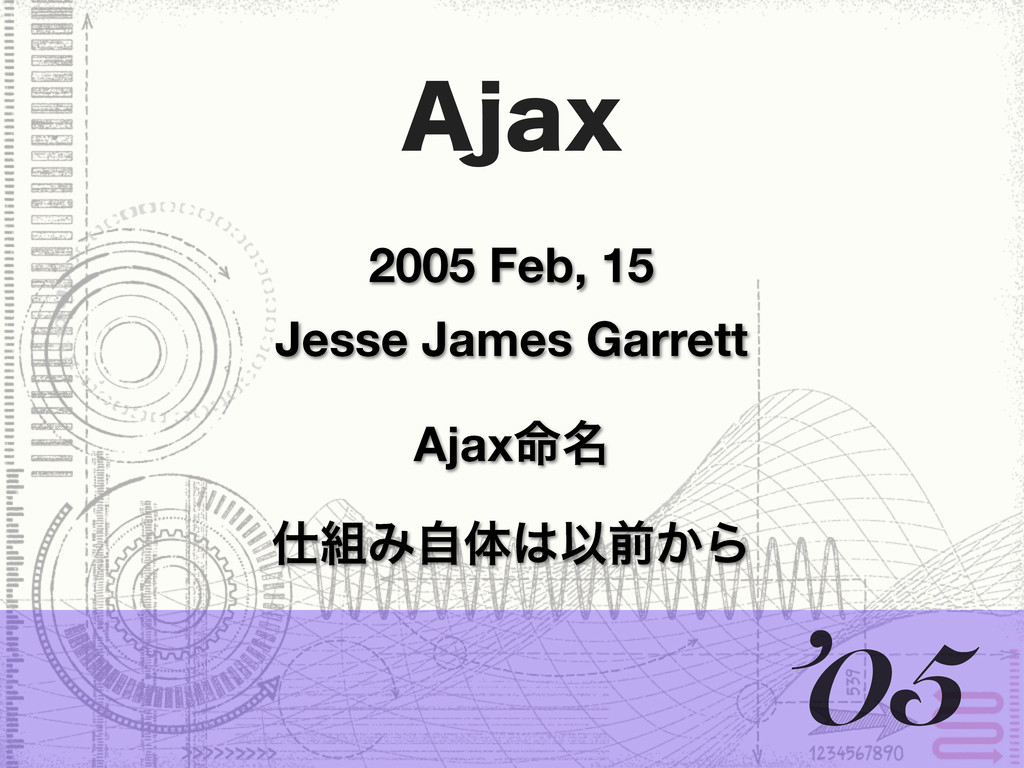 """KBY 2005 Feb, 15 Jesse James Garrett '05 Έࣗମ..."