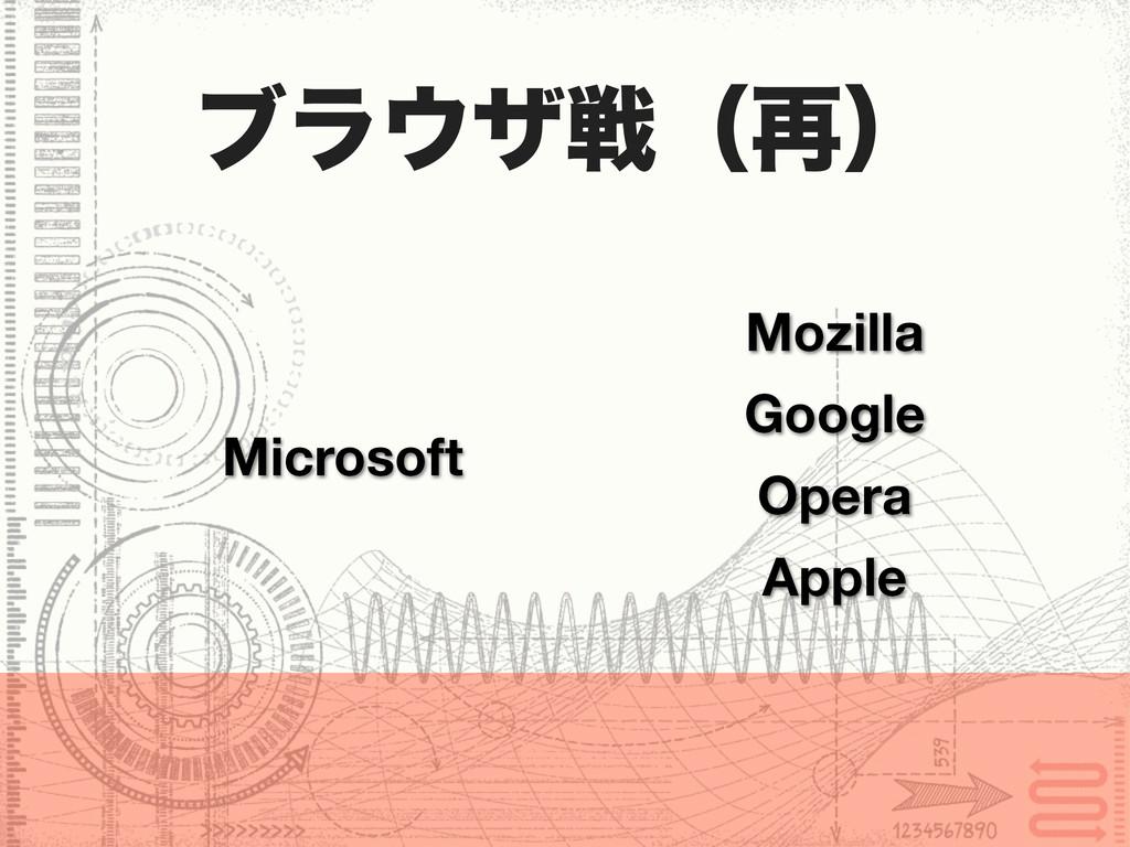 ϒϥβઓʢ࠶ʣ Mozilla Google Opera Microsoft Apple