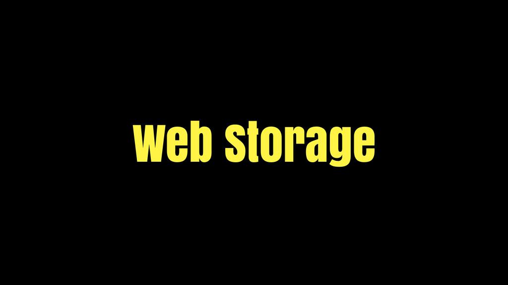 Web Storage