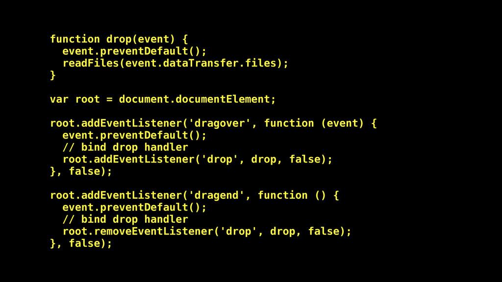 function drop(event) { event.preventDefault(); ...