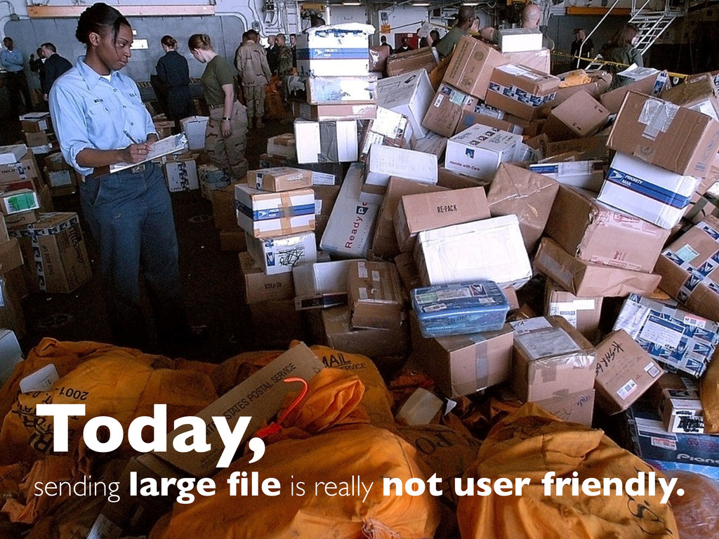 Today, sending large file is really not user fri...