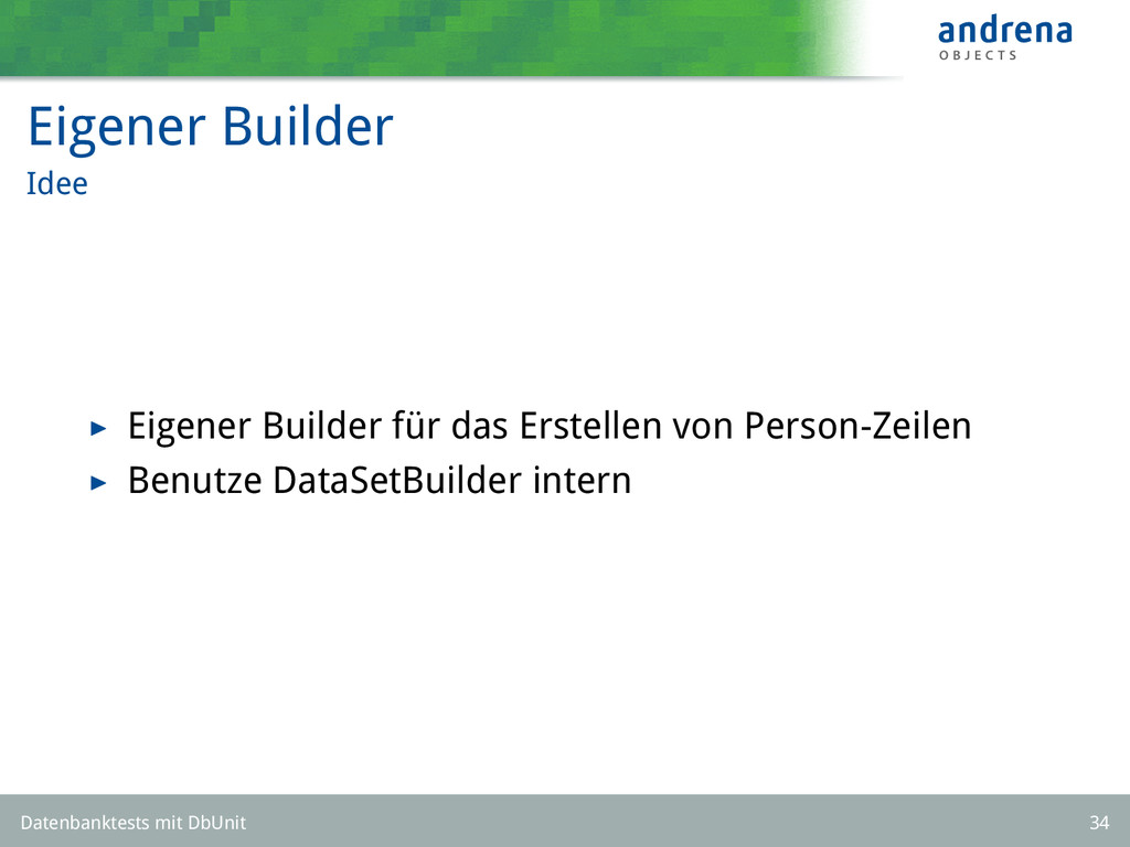 Eigener Builder Idee Eigener Builder für das Er...