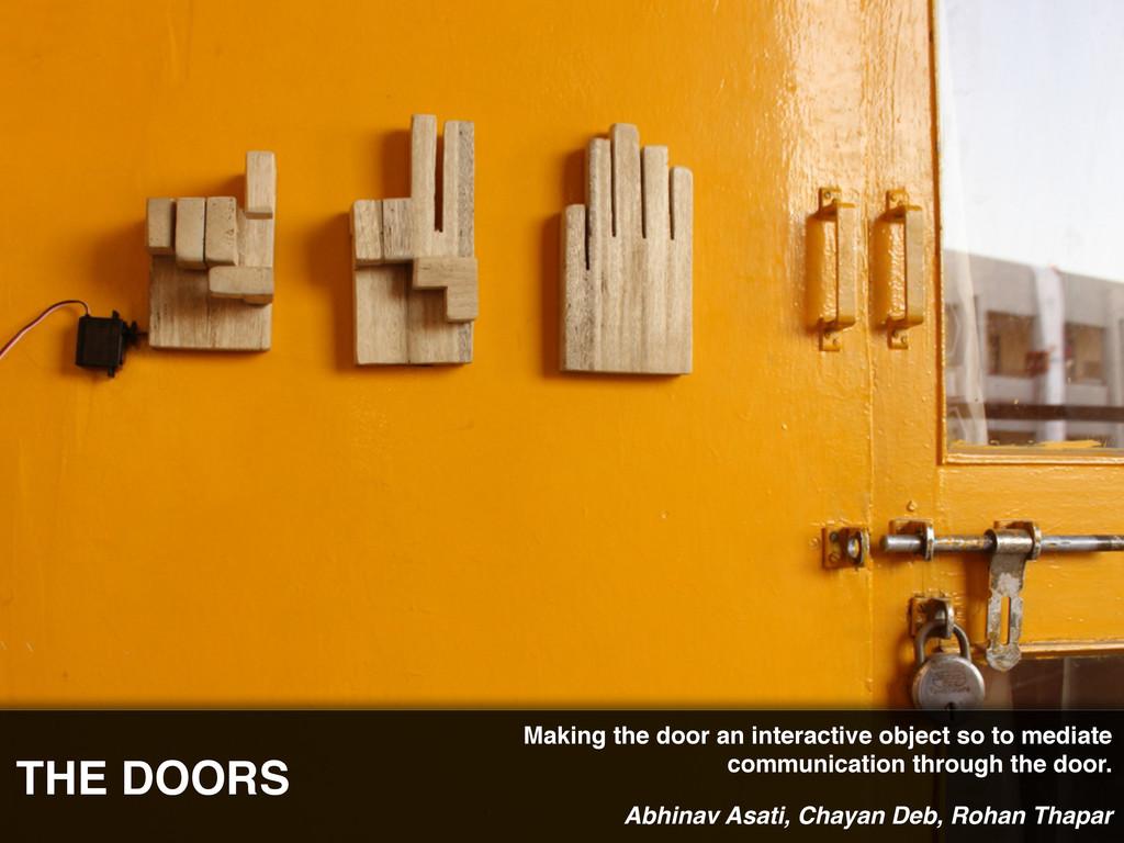 THE DOORS Abhinav Asati, Chayan Deb, Rohan Thap...