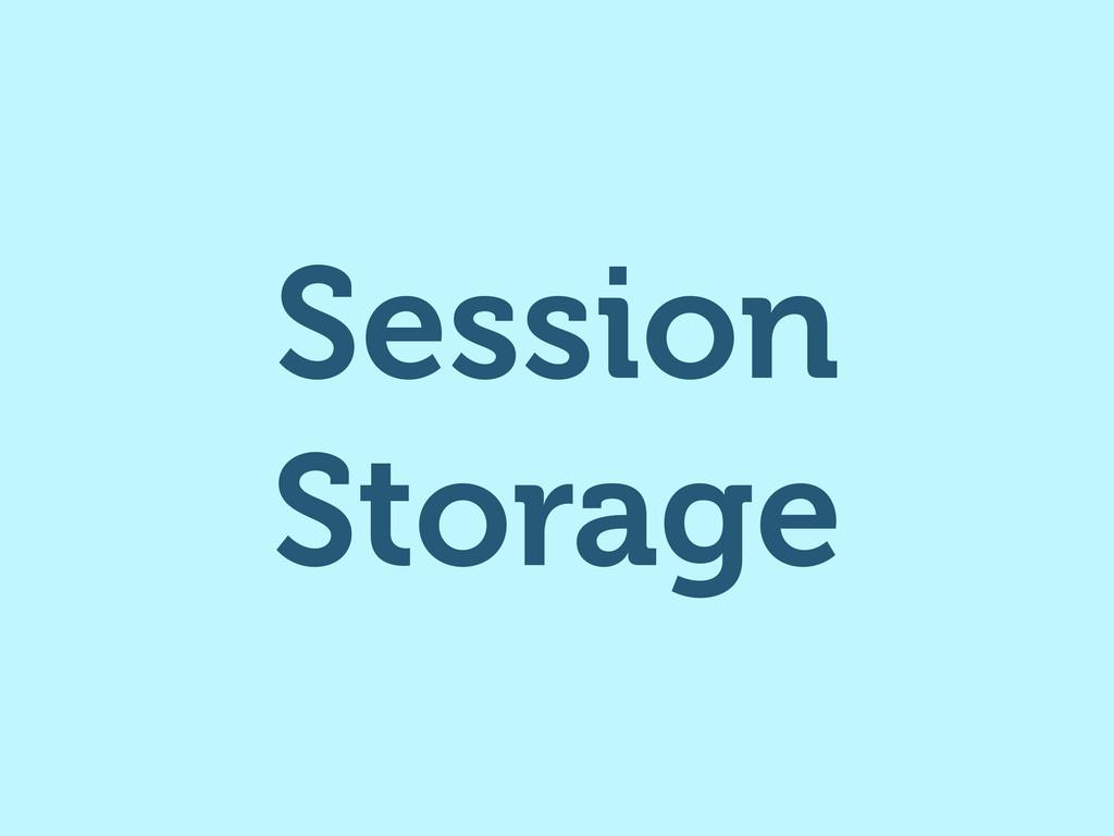 Session Storage