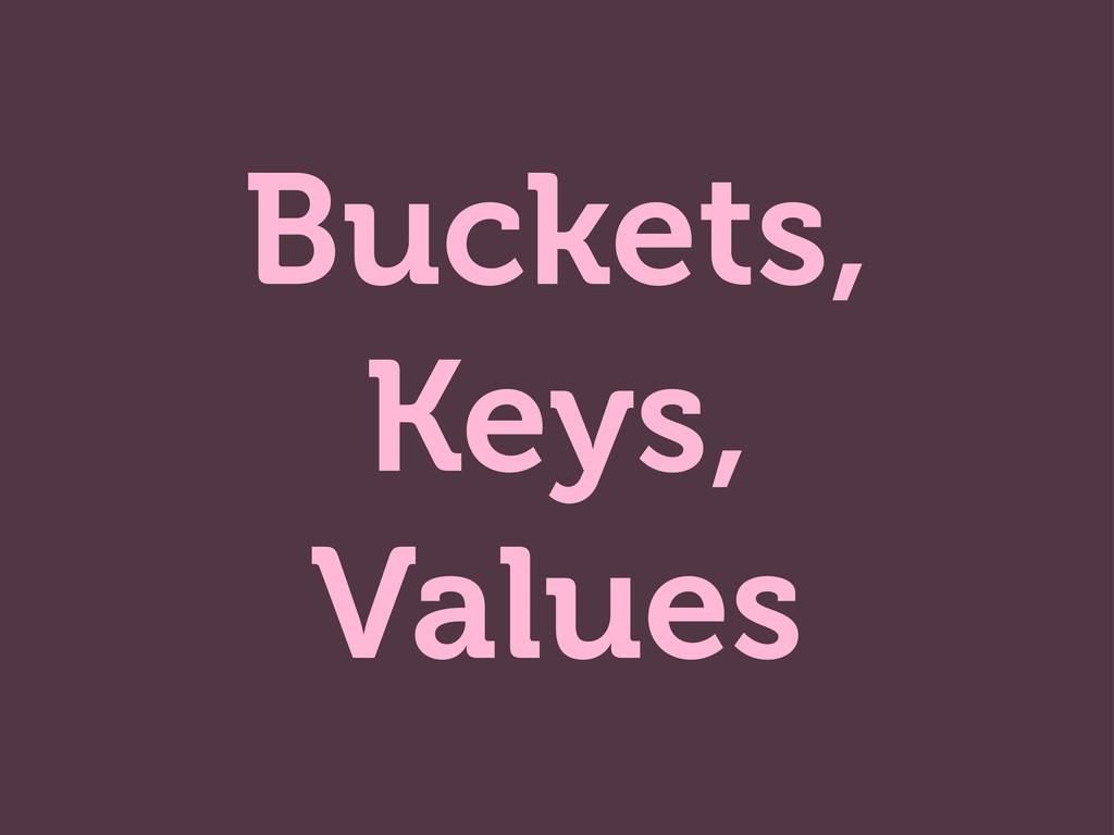 Buckets, Keys, Values