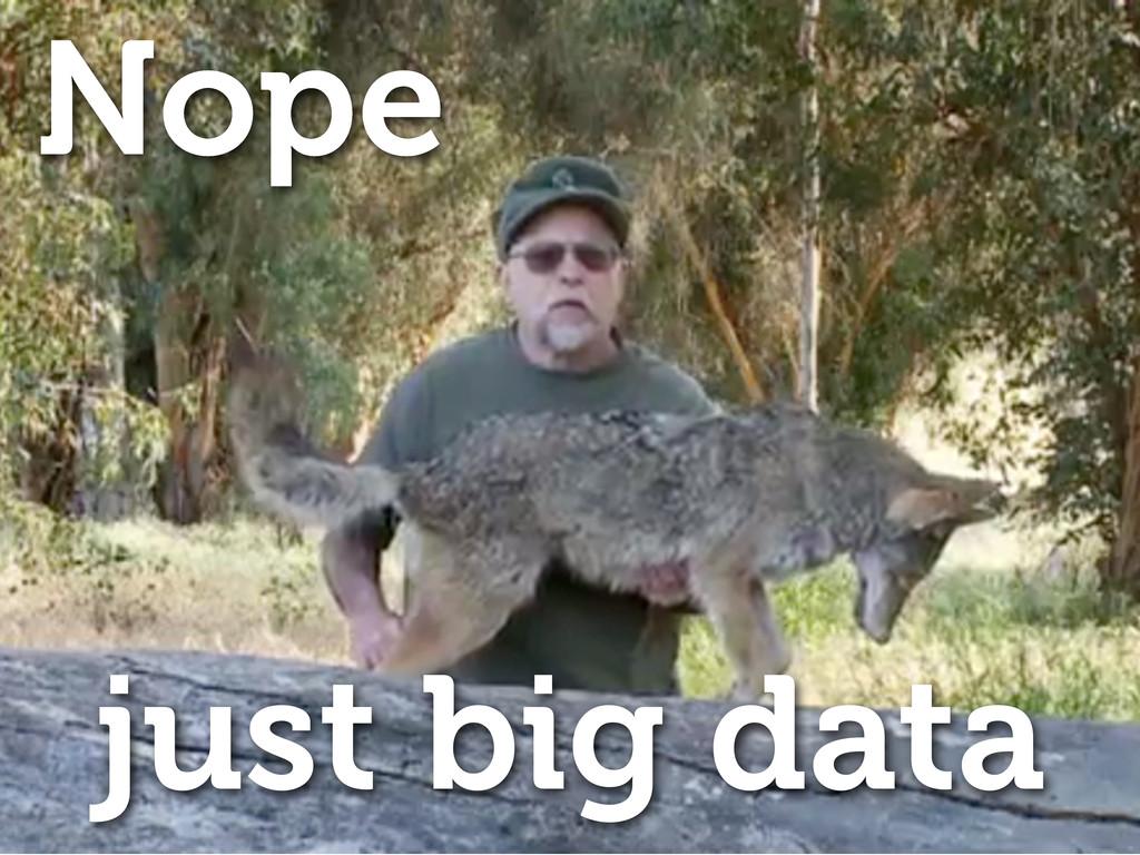Nope just big data
