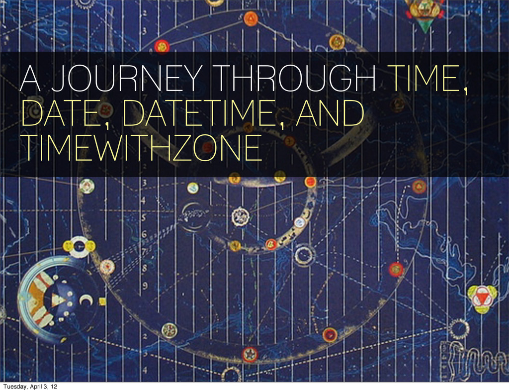 A JOURNEY THROUGH TIME, DATE, DATETIME, AND TIM...