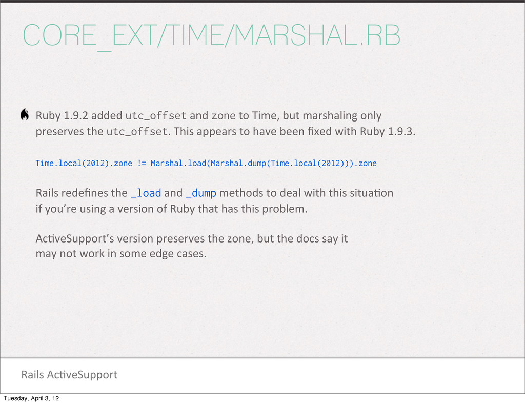 Rails Ac1veSupport CORE_EXT/TIME/MARSHAL.RB ...