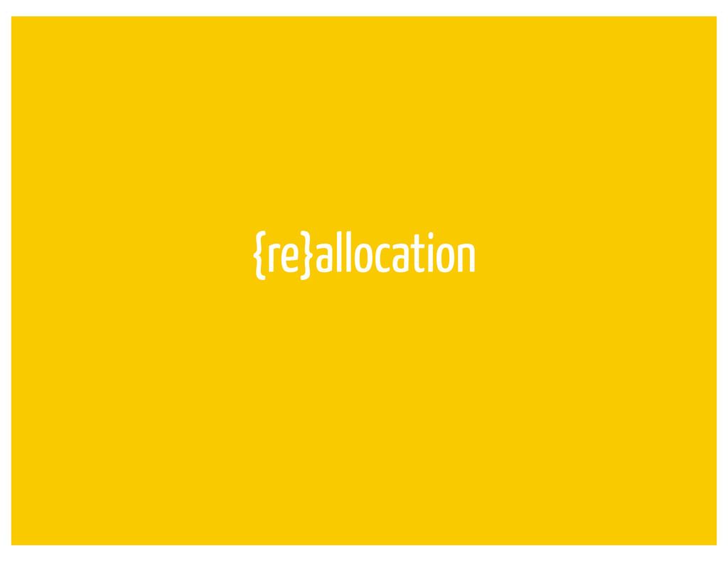 {re}allocation