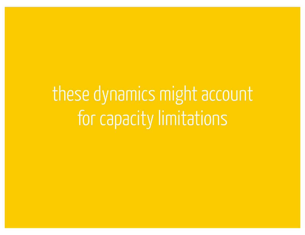 these dynamics might account for capacity limit...