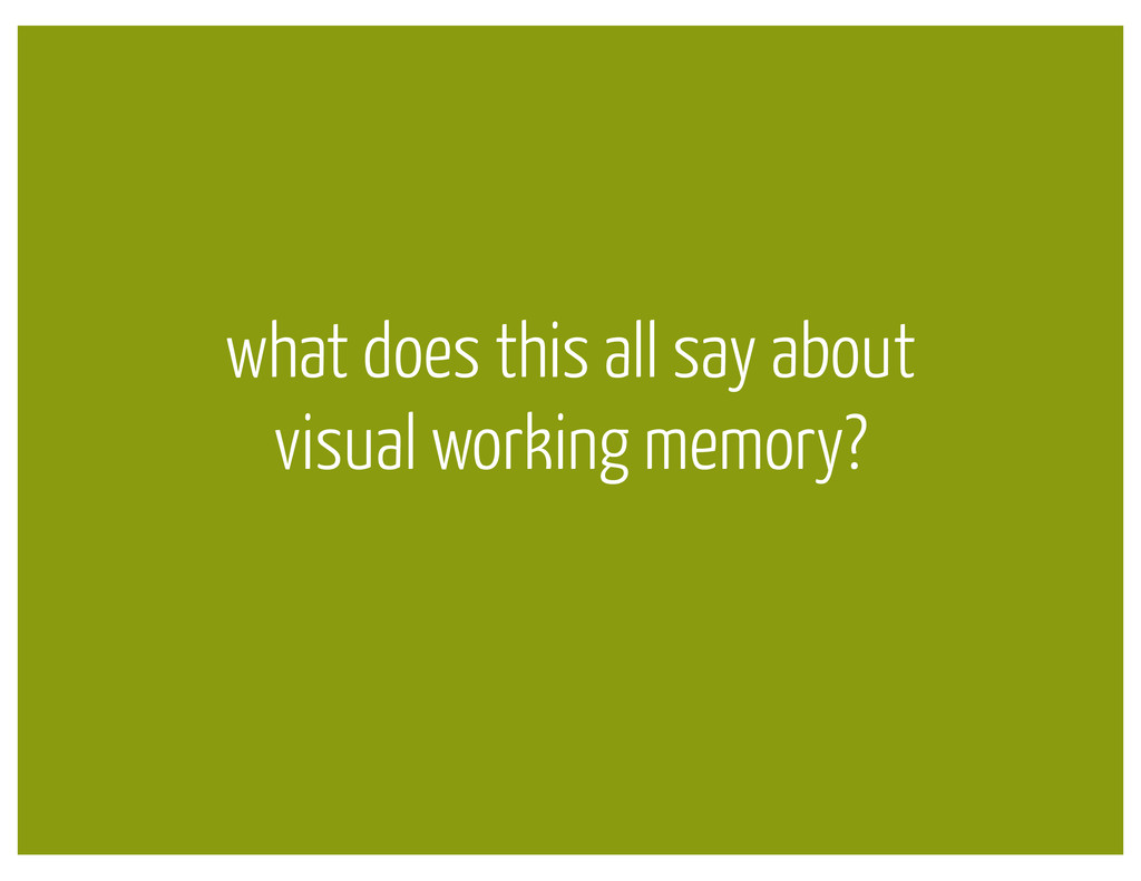 what does this all say about visual working mem...