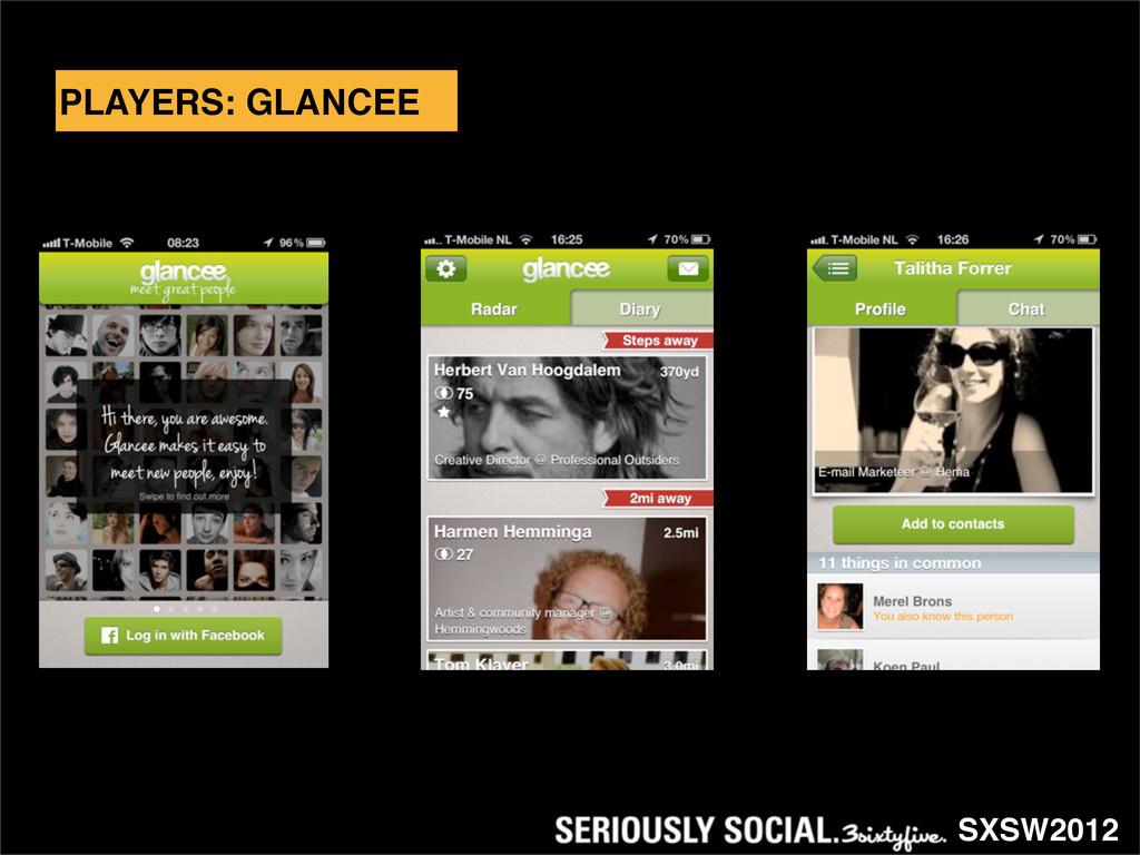 SXSW2012 PLAYERS: GLANCEE
