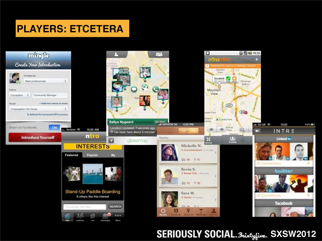 SXSW2012 PLAYERS: ETCETERA
