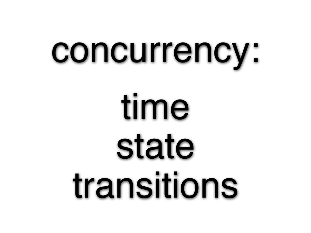 concurrency: time state transitions
