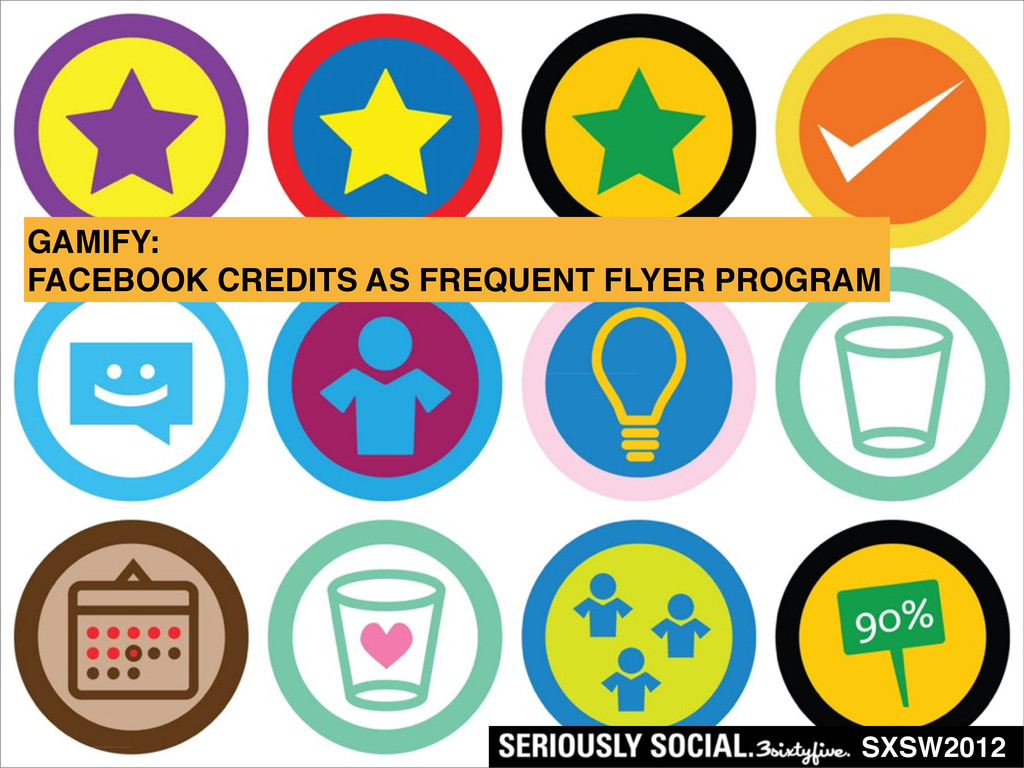 SXSW2012 GAMIFY: FACEBOOK CREDITS AS FREQUENT F...