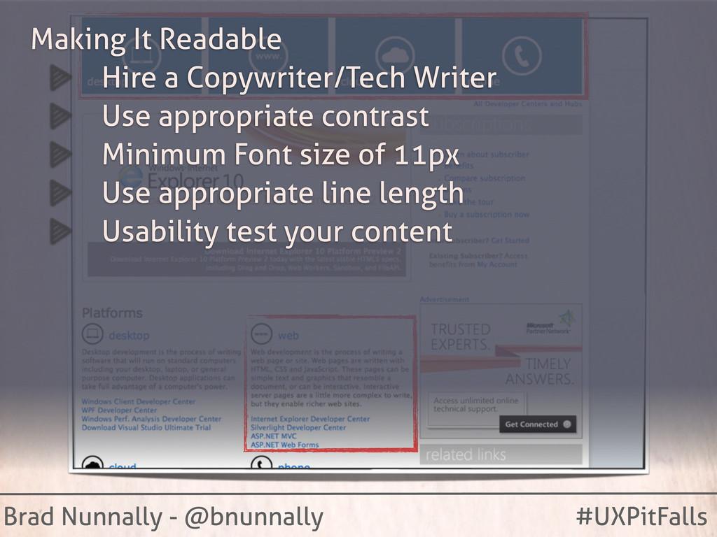 Brad Nunnally - @bnunnally #UXPitFalls Making I...