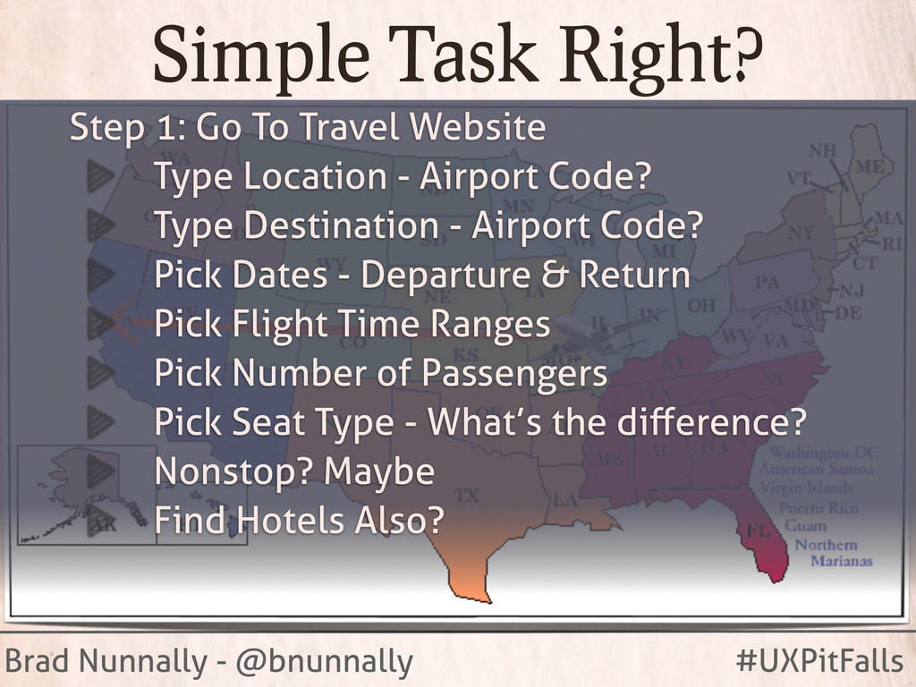 Brad Nunnally - @bnunnally #UXPitFalls Simple T...