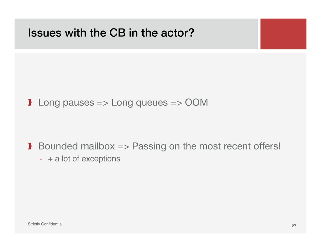 Issues with the CB in the actor?! Strictly Confi...