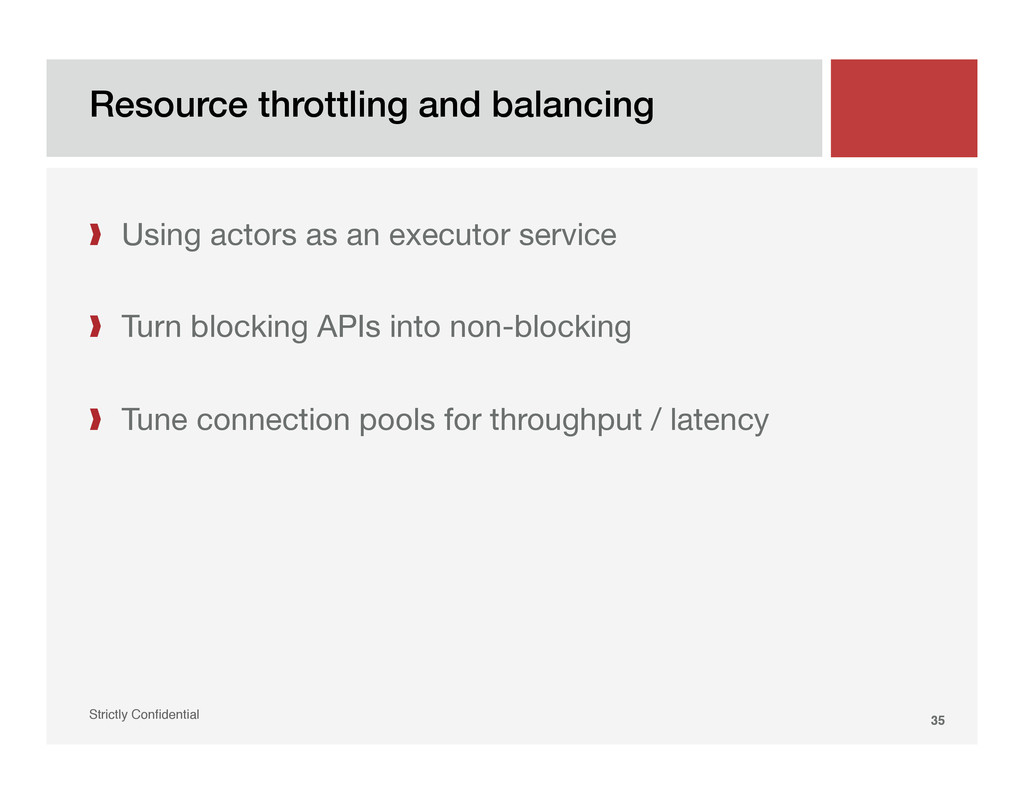 Resource throttling and balancing! Strictly Con...