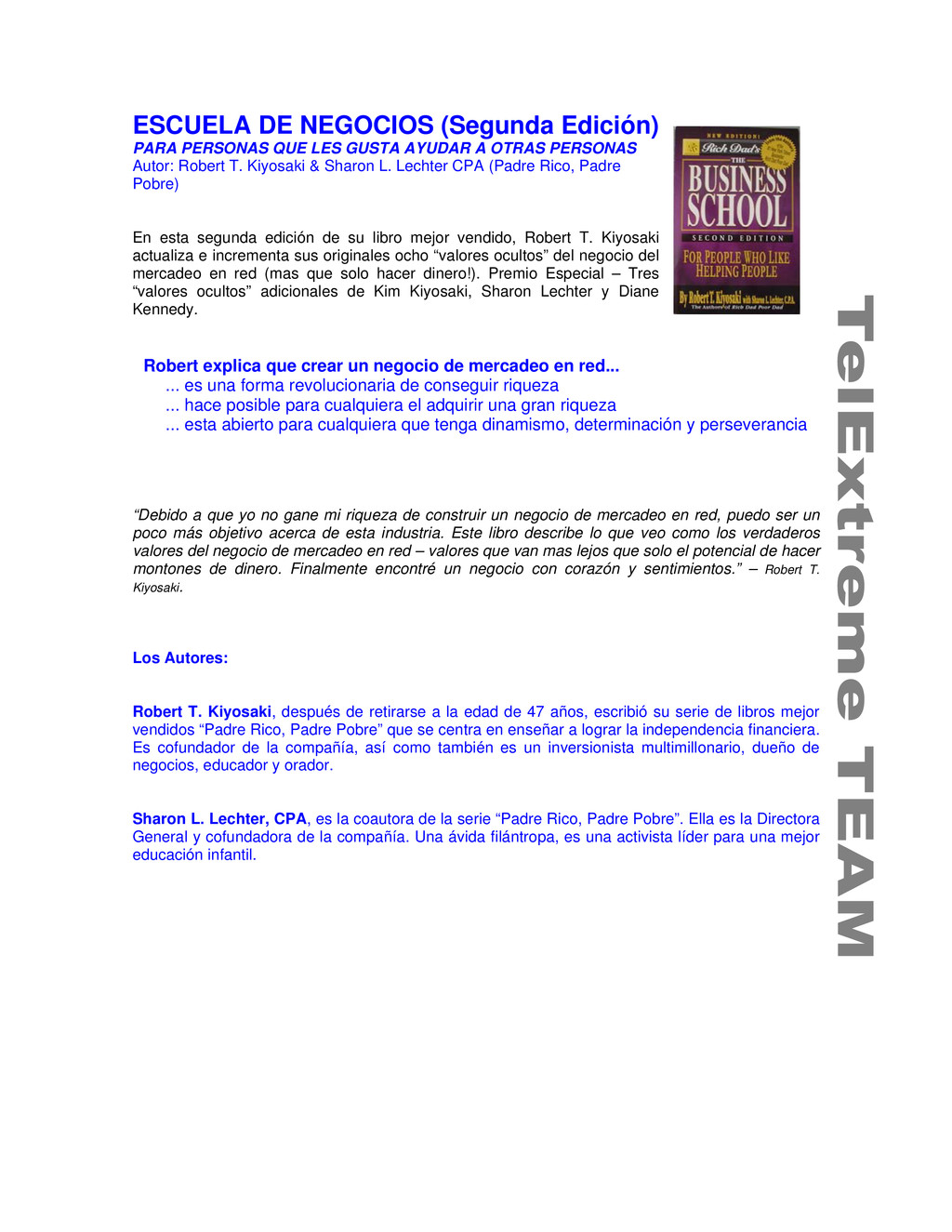 ESCUELA DE NEGOCIOS (Segunda Edición) PARA PERS...