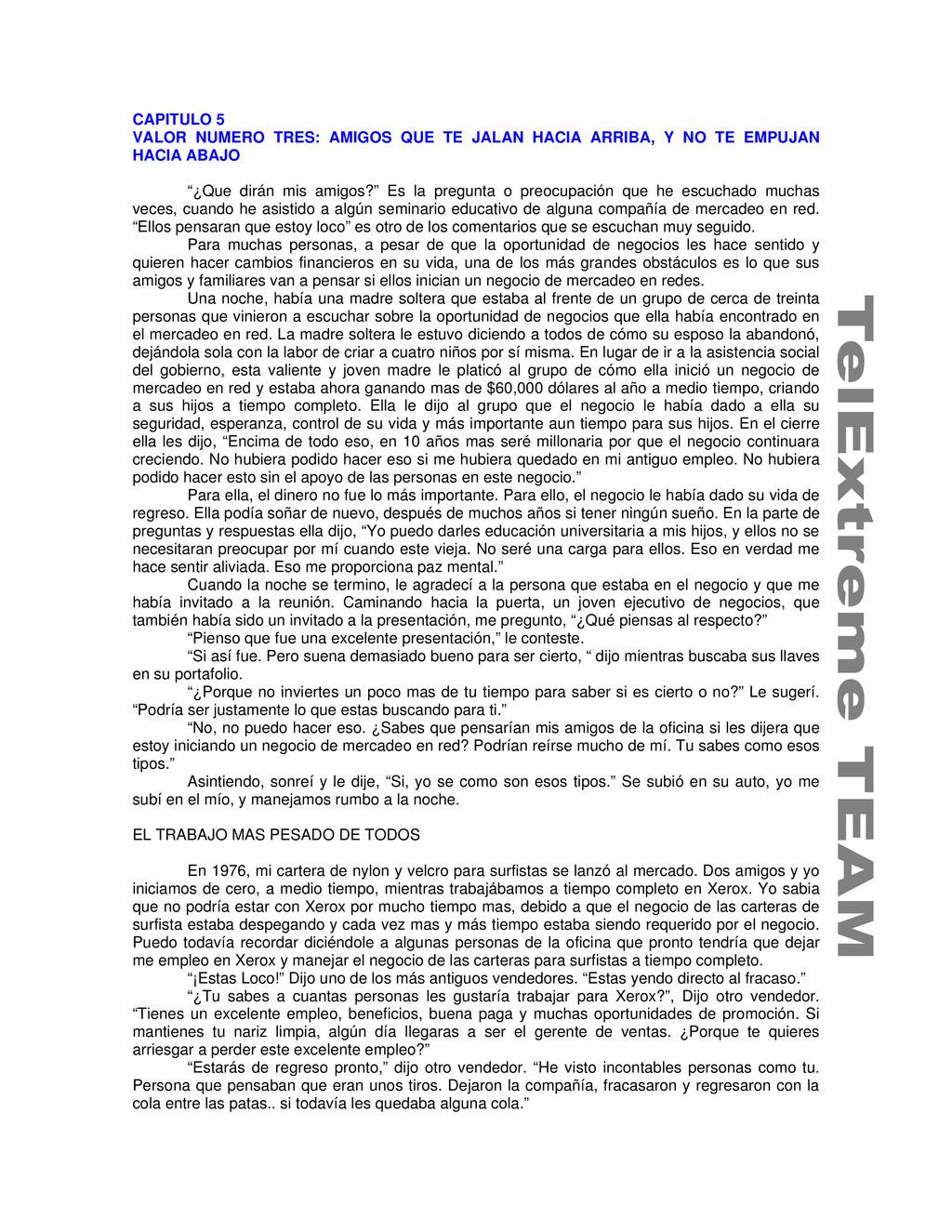 CAPITULO 5 VALOR NUMERO TRES: AMIGOS QUE TE JAL...
