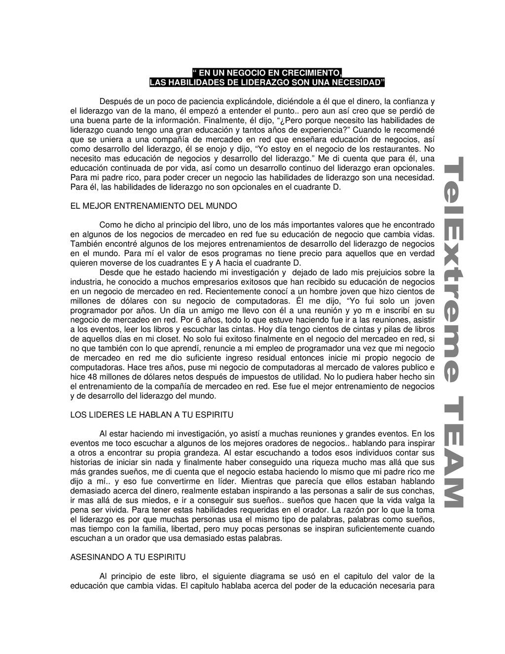 """"""" EN UN NEGOCIO EN CRECIMIENTO, LAS HABILIDADES..."""