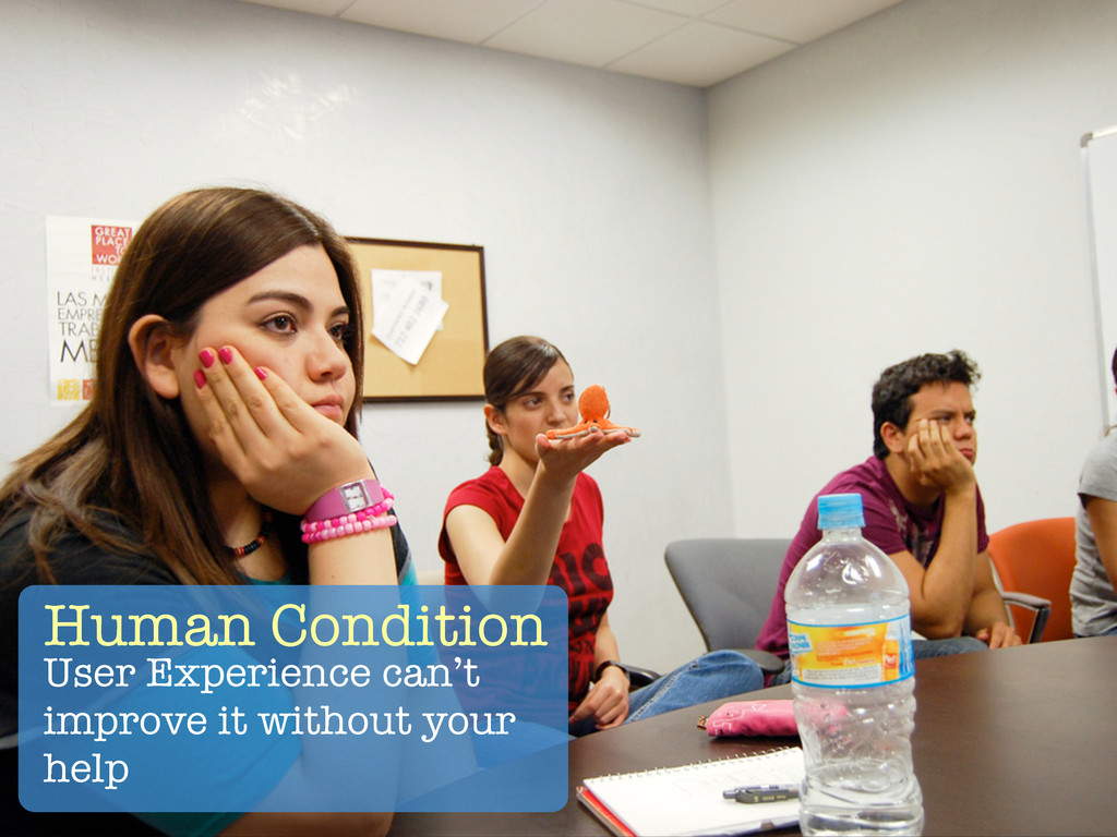 Human Condition User Experience can't improve i...