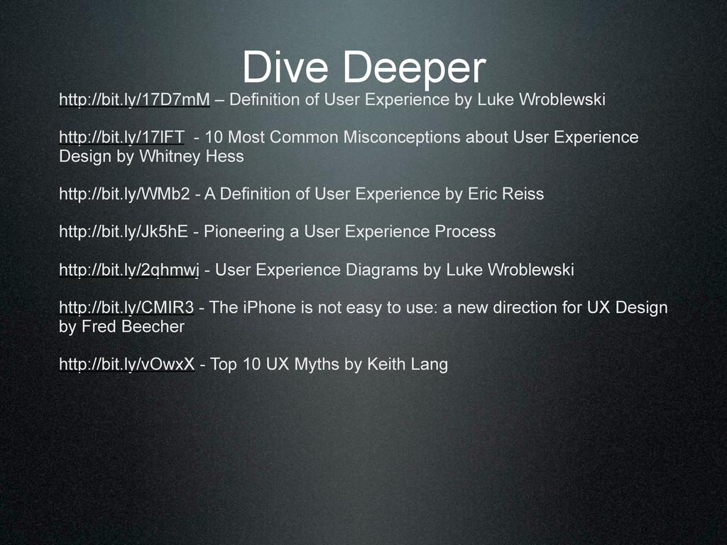 Dive Deeper http://bit.ly/17D7mM – Definition o...