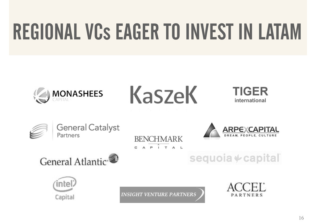 TIGER international REGIONAL VCs EAGER TO INVES...
