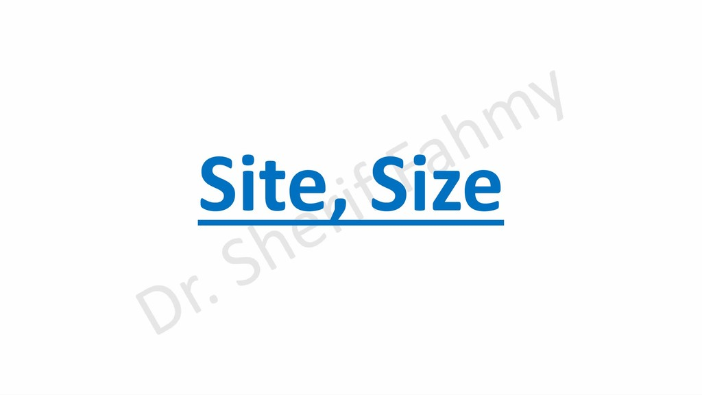 Site, Size