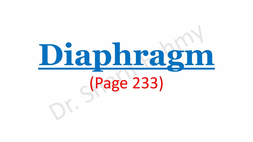Diaphragm (Page 233)