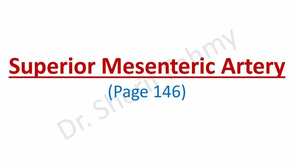 Superior Mesenteric Artery (Page 146)