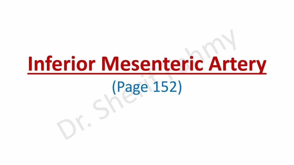Inferior Mesenteric Artery (Page 152)