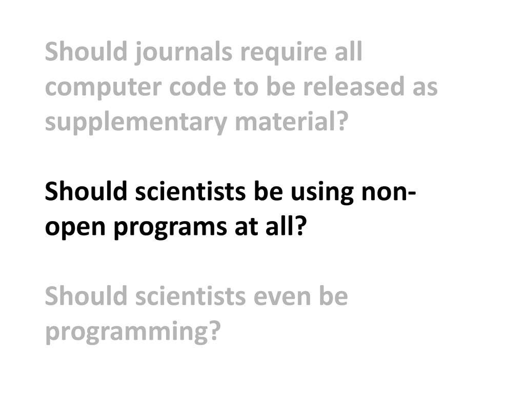 Should journals require all computer code to be...