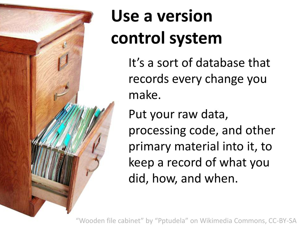 Use a version control system It's a sort of dat...